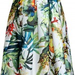 delightful-lily-printed-high-waist-dress