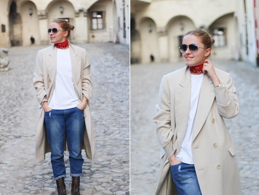 Lanvin kabát červená šatka 2