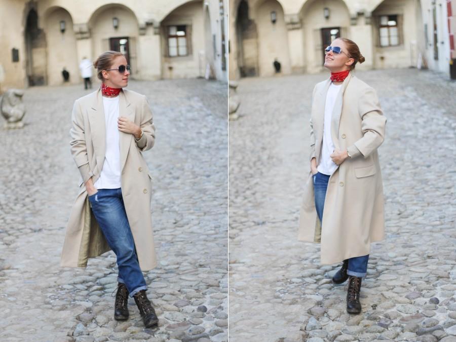 lanvin kabát červená šatka 1