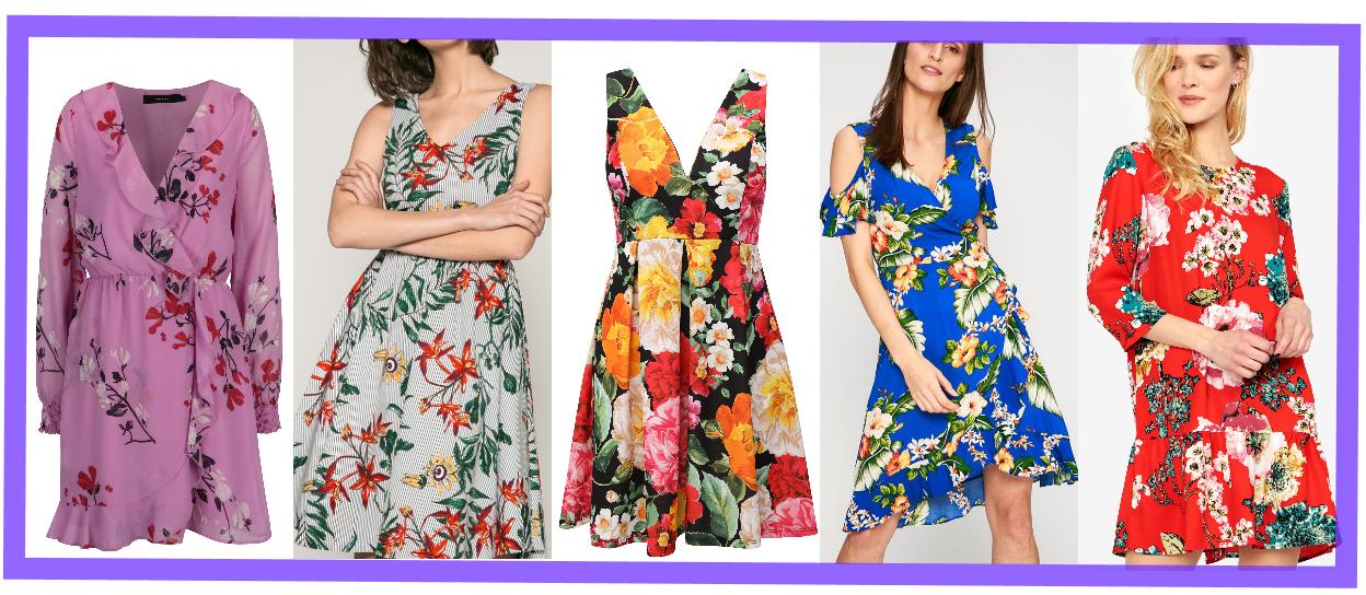884aee937da9 V kvetinových šatách jednoducho rozkvitnete. Viac k tomu písať netreba. Čím  farebnejšie kvety a sýtejšie farebné pozadie