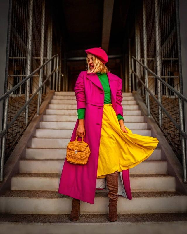 ako nosit farebne oblecenie color blocking
